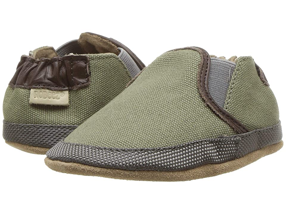 Robeez Oliver Soft Sole (Infant/Toddler) (Olive Green) Boy