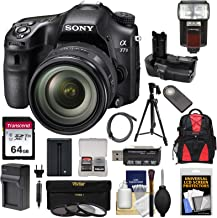 Sony Alpha A77 II Wi-Fi Digital SLR Camera & 16-50mm Lens with 64GB Card + Grip + Battery & Charger + Flash + Backpack + Tripod + Kit