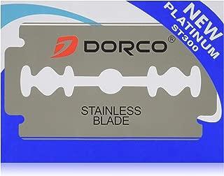 100 Dorco ST300 Double Edge Razor Blades/ Stainless Steel by Original Dorco