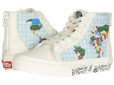Vans Kids Vans x Save Our Planet SK8-Hi Zip (Little Kid/Big Kid) ((Save Our Planet) Classic White/Multi) Kids Shoes