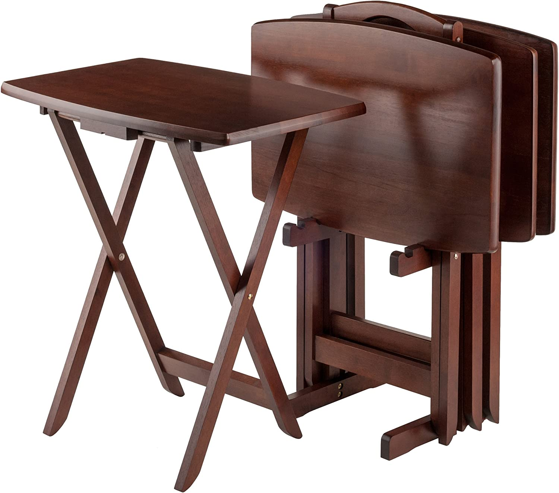 Winsome Oversize Snack Table Set, Walnut