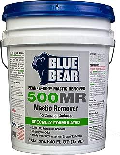 BLUE BEAR 500MR Mastic Remover For Concrete Surfaces 5 Gallon