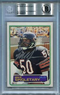 Mike Singletary Rookie Chicago Bears BGS Certified Authentic Autograph - 1983 Topps (Autographed Football Cards)