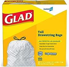 Glad Tall Kitchen Drawstring CloroxPro Trash Bags - 13 Gallon - 100 Count (Packaging May Vary)