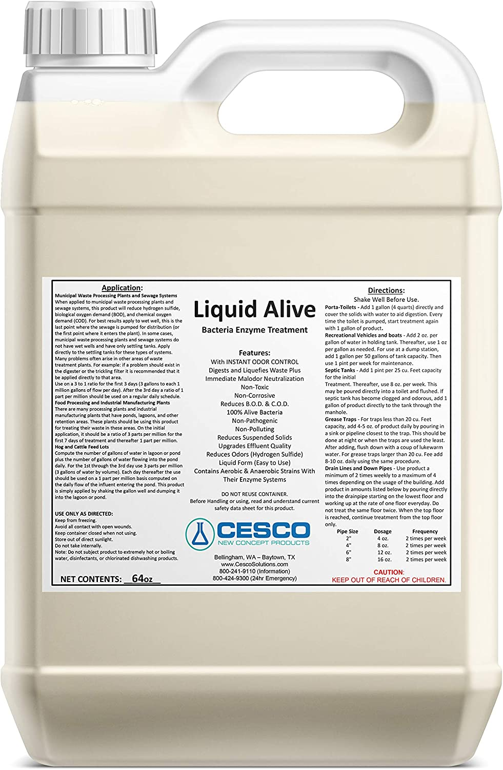 Cesco Solutions Ranking TOP19 – ENZYME CLEANER CONCENTRATE Free shipping Aliveâ Liquid