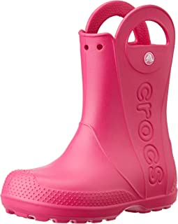 Crocs Kids' Handle It Rain Boots, Easy On for Toddlers, Boys, Girls, Lightweight and Waterproof, Candy Pink, 8 M US Toddler