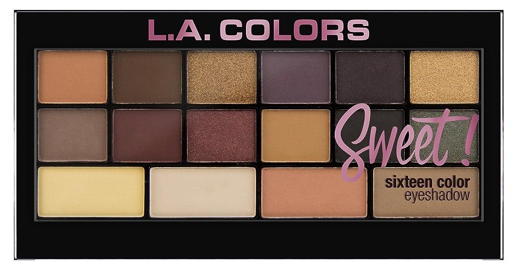 想像力豊かなミント電気的L.A. Colors Sweet! 16 Color Eyeshadow Palette - Seductive (並行輸入品)