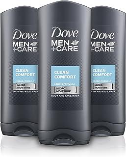 Dove Men +Care - Clean Comfort - Gel de ducha con tecnología microhidratante - 400 ml, Paquete de 3