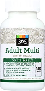 365 Everyday Value, Adult Multi with Iron, 180 ct