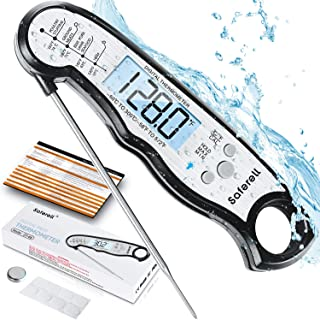 Saferell Instant Read Meat Thermometer for Cooking, Fast & Precise Digital Food Thermometer with Backlight, Magnet, Calibr...