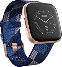 Fitbit Versa 2 Special Edition (NFC), Health & Fitness Smartwatch with Heart Rate, Music, Sleep & Swim Tracking, One Size (S & L Bands Included), Navy/Pink [Pre-Order]