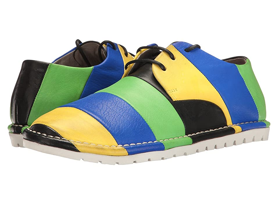 Marsell Multi Stripe Oxford (Blue/Black/Yellow/Green) Women