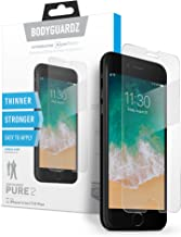 BodyGuardz - Pure 2 Glass Screen Protector, Ultra-Thin Tempered Glass Screen Protection for Apple iPhone 6 Plus/6s Plus/7 Plus/8 Plus - CASE Friendly