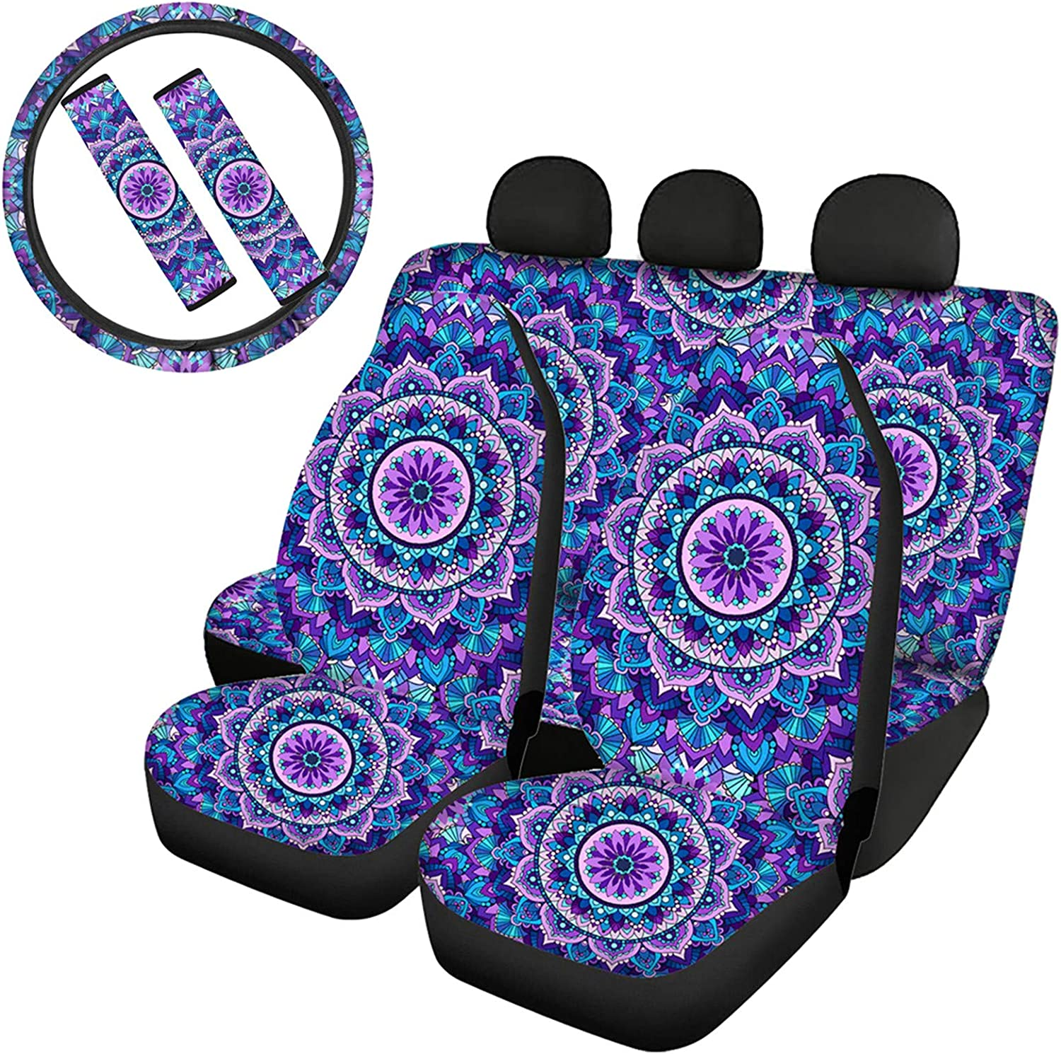 UZZUHI Car Front Rear Japan Maker New Seat Steering Covers+ S Wheel Cover+ Max 73% OFF