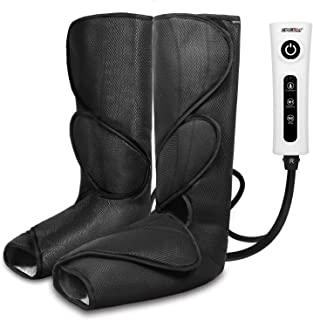 CINCOM Leg Massager for Foot Calf Air Compression Leg Wraps with Portable Handheld..