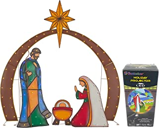 holy family christmas lights
