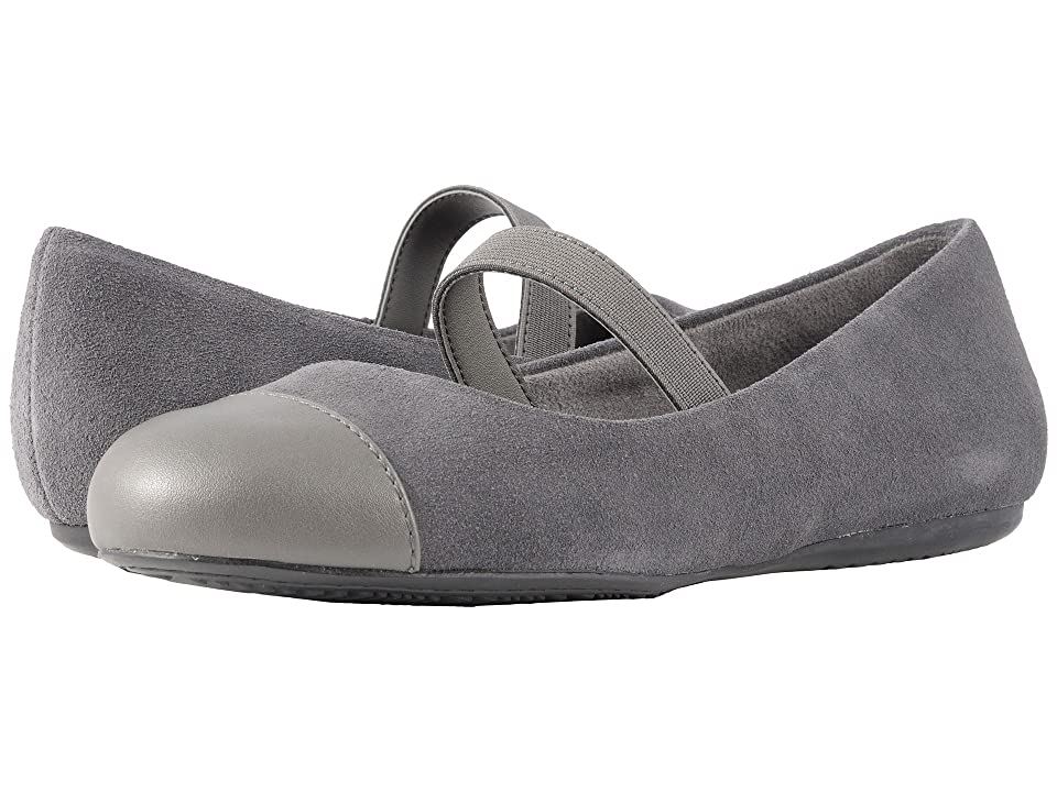 SoftWalk Napa MJ (Dark Grey/Pewter Casual Suede/Smooth Metallic PU) Women