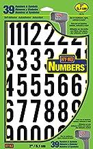 "Hy-Ko Products MM-7N Self Adhesive Vinyl Numbers 2"" High, Black & White, 39 Pieces"