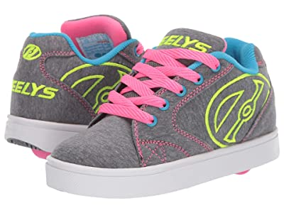 Heelys Vopel (Little Kid/Big Kid/Adult) (Grey Heathered/Neon Multi) Girls Shoes
