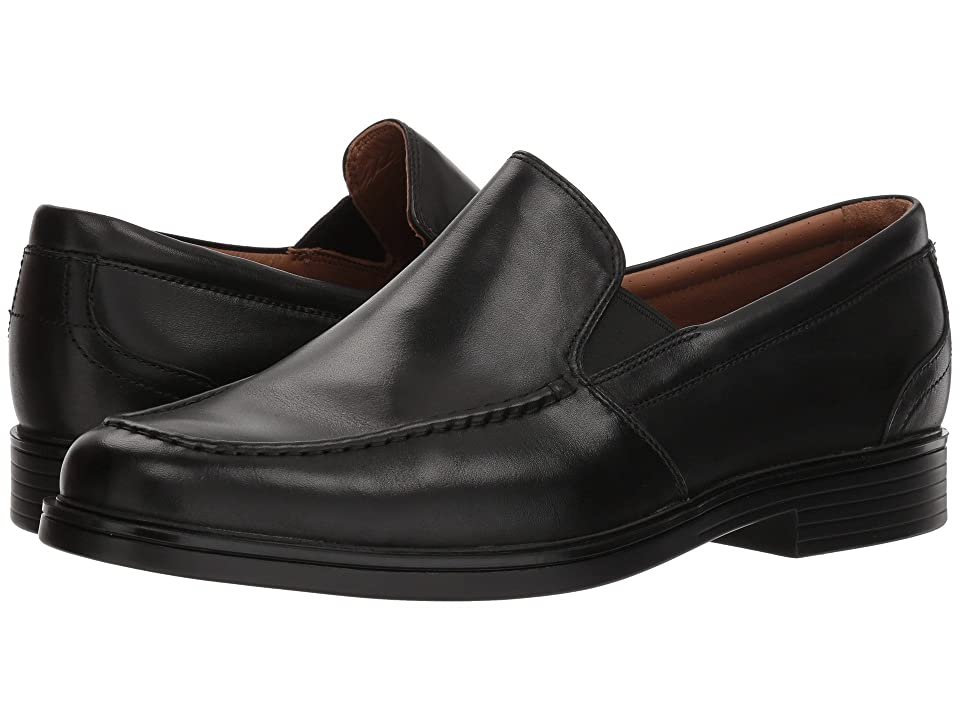 Clarks UnAldric Slip (Black Leather) Men