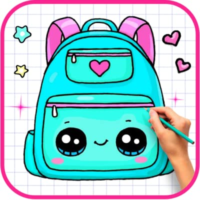 How To Draw Cute School Supplies Step By Step from Qudev LLC