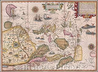Historic Map - Exacta & Accurata Delineatio cum Orarum Maritimarum tum etjam locorum terrestrium quae in Regionibus China, Cauchinchina, Camboja sive Champa, 1596 v5 60in x 44in