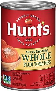 Hunt`s Whole Peeled Plum Tomatoes, 14.5 oz, 12 Pack