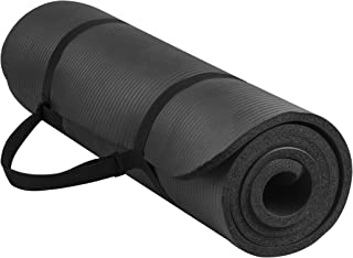 Dorsa Non Slip yoga mat 10mm thick NBR Gym home mat exercise mat sport mat 183 X 61cm Black