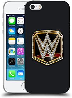 Official WWE World Heavyweight Champion Title Belts Soft Gel Case Compatible for iPhone 5 iPhone 5s iPhone SE