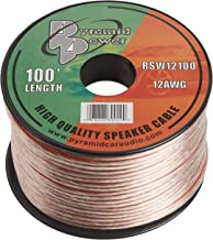 100ft 12 Gauge Speaker Wire – Cable in Spool for Connecting Audio Stereo to..