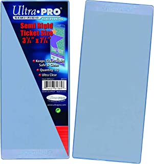 Ultra Pro Semi Rigid Ticket Holders (50 Count Pack), Clear, 3-1/2