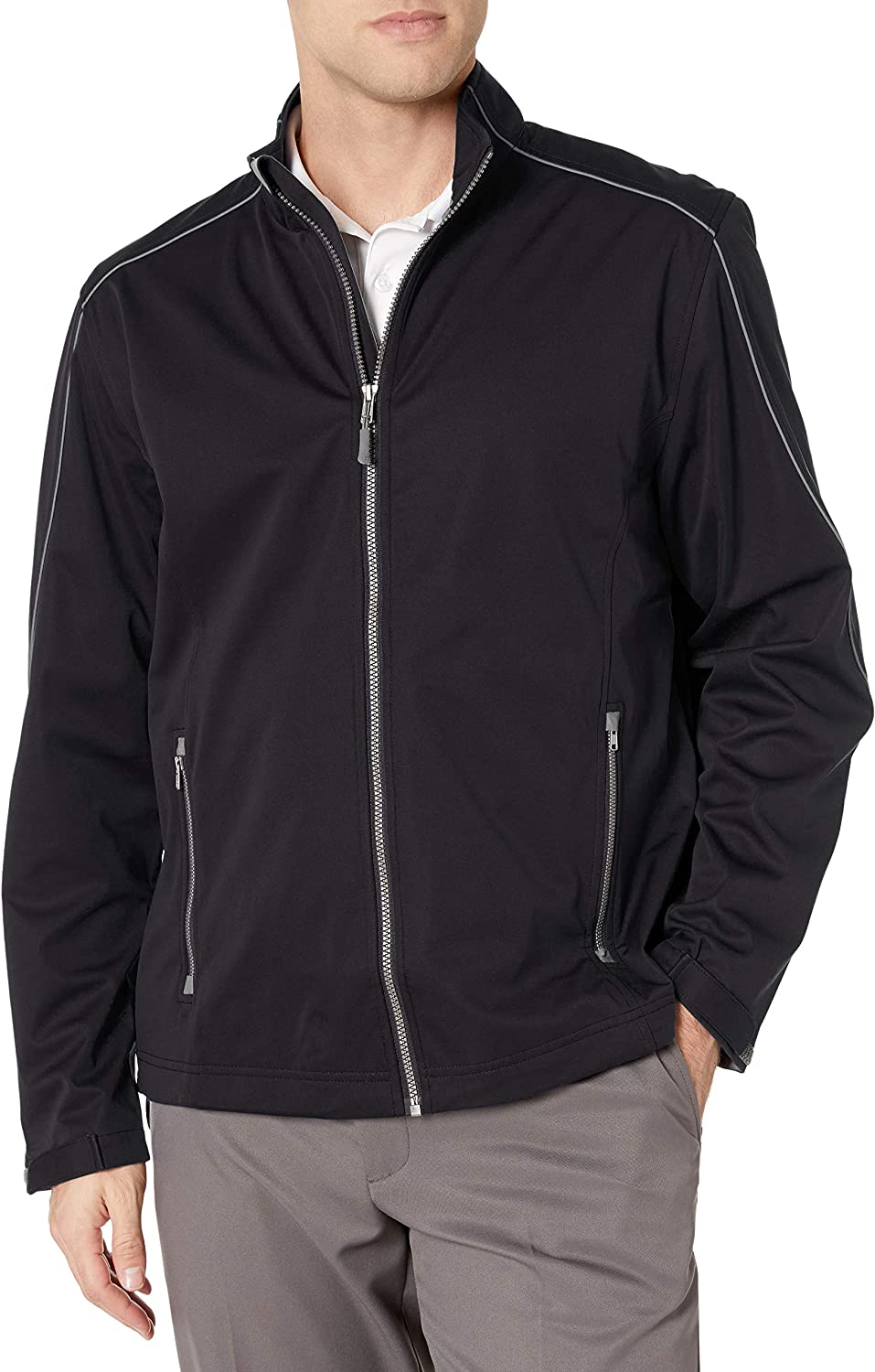 Cutter & Buck Men's Weather Resistant, Midweight Softshell Opening Day Jacket