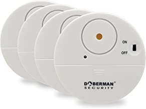 Doberman Security Ultra-Slim Design Security Alarm, White (SE-0106W-4PK)