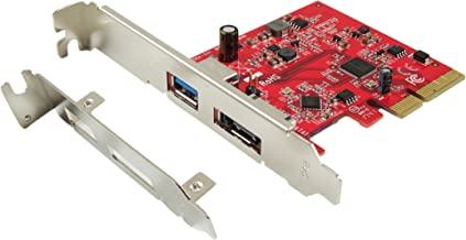Ableconn PU31A-ESA 1-Port USB 3.1 10 Gbps Type-A & 1-Port eSATA III 6 Gbps PCI Express (PCIe) x4 Host Adapter Card