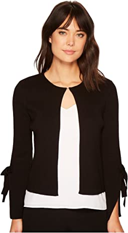 Bell Tie Sleeve Open Cardigan Sweater
