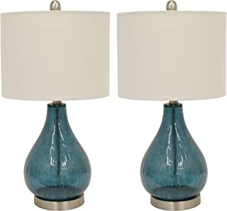 Décor Therapy MP1054 Table Lamp, Emerald Blue Green (Renewed)