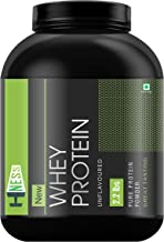 HNESS 100% Pure Whey Energy Protein Supplement Powder with Vitamins & Minerals, 1 kg / 2.2 lb (Unflavoured)