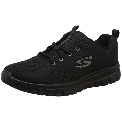 Women's Black Skechers: Amazon.co.uk