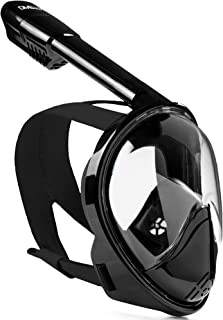 DIVELUX Snorkel Mask - Original Full Face Snorkeling and Diving Mask with 180° Panoramic Viewing - Longer Ventilation Pipe, Watertight, Anti Fog & Anti Leak Technology, for Adults & Kids