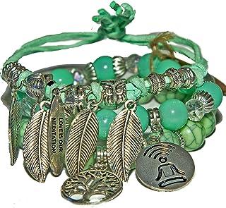Boho Bracelets, Lava rock bracelets green, Beaded bangle bracelets, Spiritual gift bracelets, Premium jewelry bracelets, S...