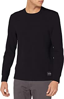 Men's Long Sleeve Thermal Waffle Crew Neck Shirt