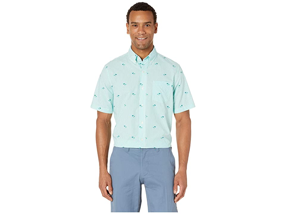 CHAPS Fashion-Short Sleeve-Sport Shirt (Green) Men