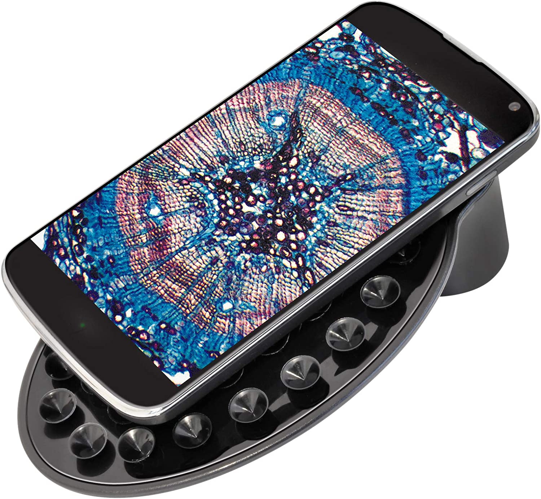 Bresser Junior schoolagenicroscoop BIOLUX SEL met smartphonehouder, rijke accessoires en Barlow Zoomsysteem voor kinderen, beginners en volwassenen, paars paars