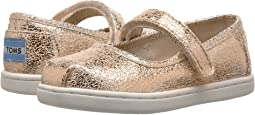 4f8eec22fbf Rose Gold Crackle Foil. TOMS Kids. Mary Jane ...