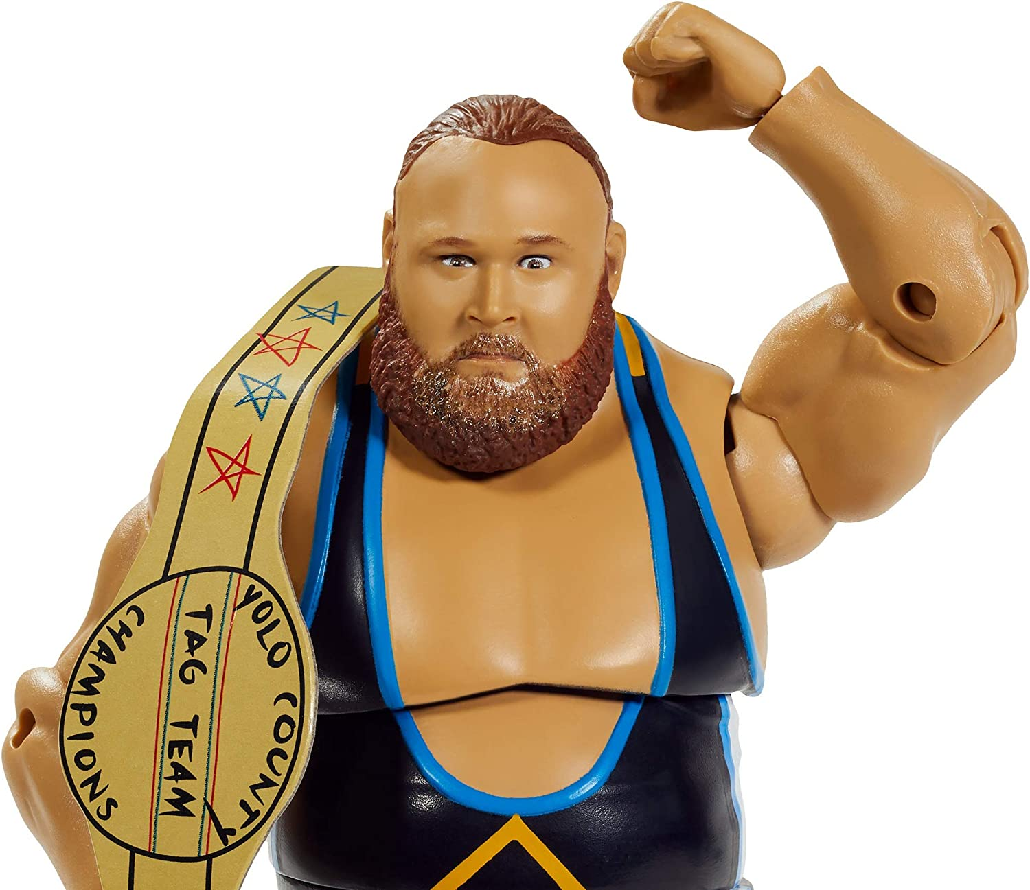 WWE Heavy Machinery Tucker Elite Series #76 Deluxe Action Figure with Multi