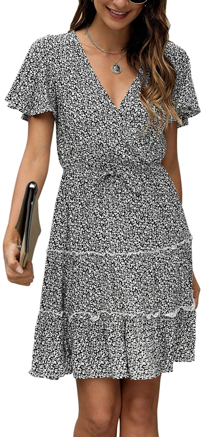 Manydress Women's El Paso Mall Casual Floral Outlet ☆ Free Shipping Print Doll Flutter M Sleeve Baby