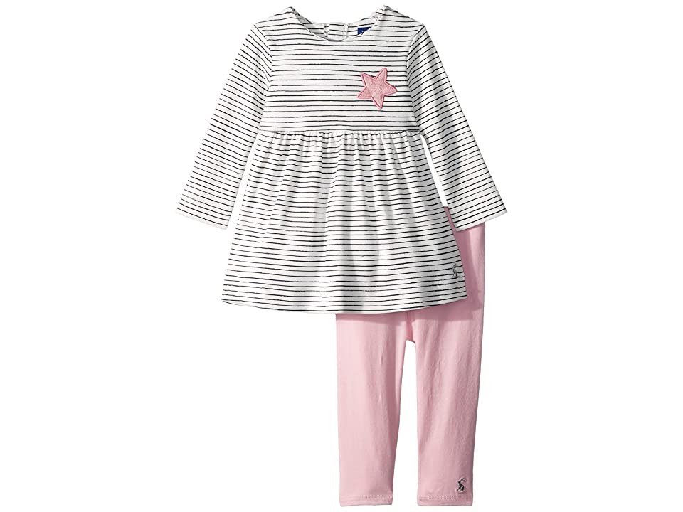 Joules Kids Dress and Leggings Set (Infant) (Cream Pencil Stripe) Girl