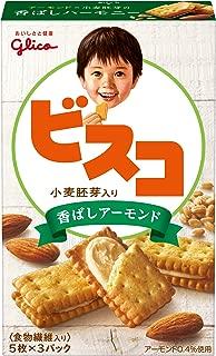 江崎グリコ ビスコ小麦胚芽入り<香ばしアーモンド> 15枚