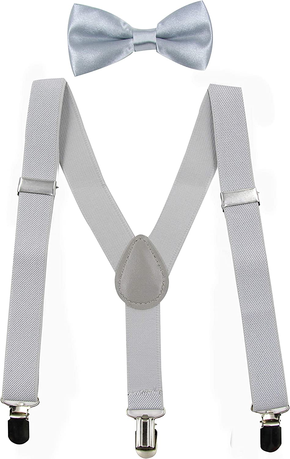Toddlers Kids Suspenders & Bow Tie Set,Adjustable Y Back Suspender with Strong Clips Elastic Accessory for 1-13 Years
