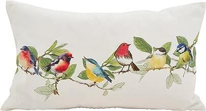 SARO LIFESTYLE Fleurir Collection Embroidered Birds Throw Pillow/263.M1220B, 12 x 20, Multi